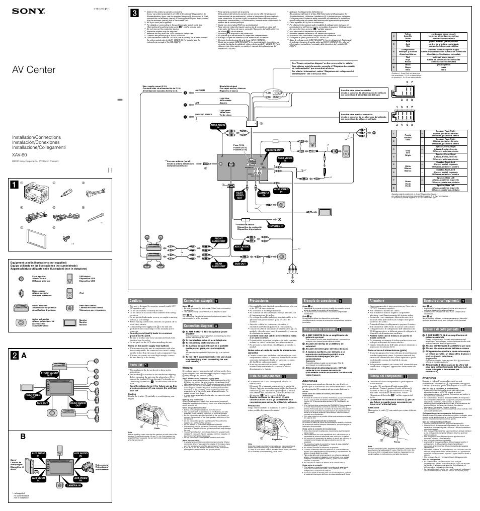 sony xplod amp wiring diagram 4 way switch light middle xav 622 color code ~ elsalvadorla
