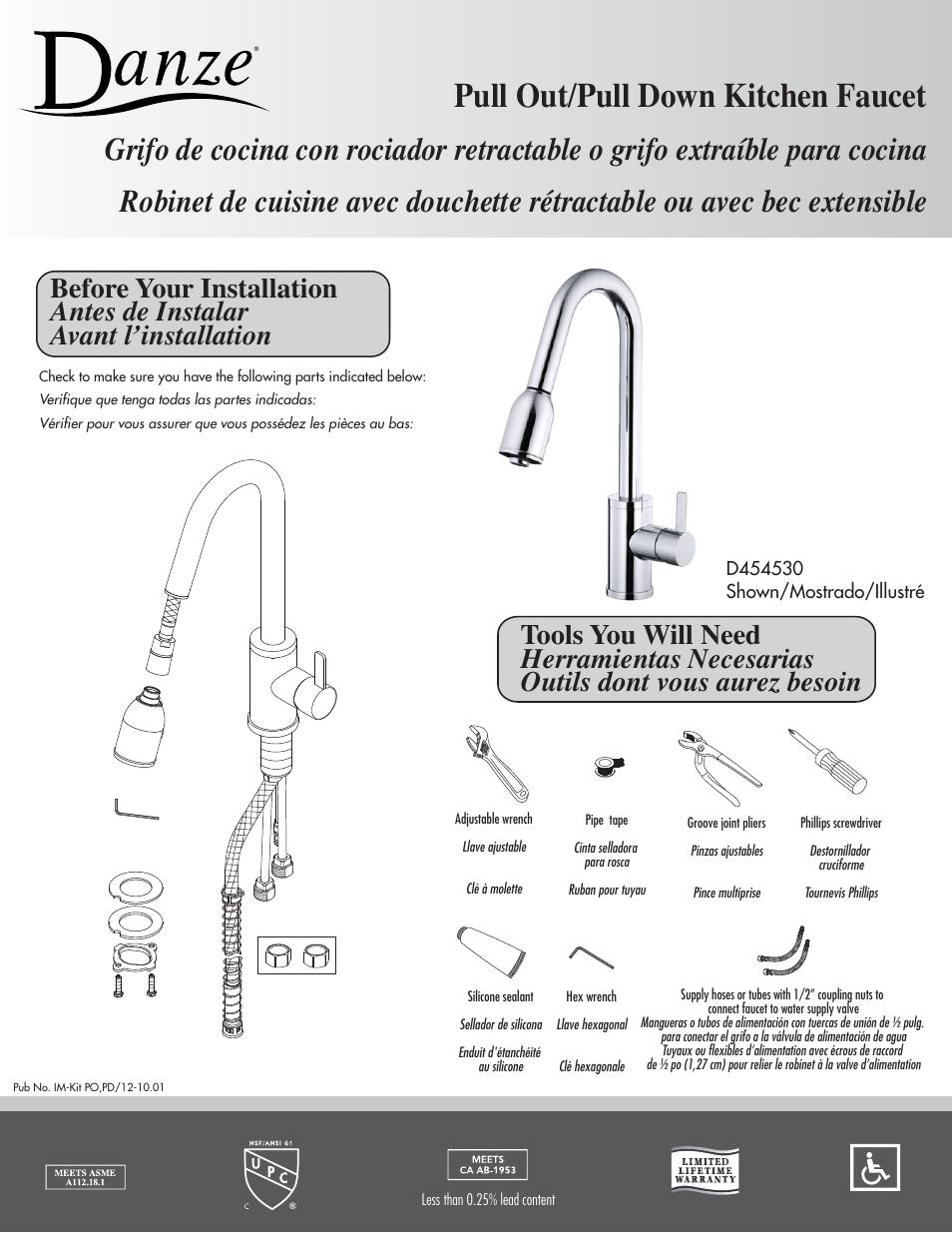 danze d454746 installation manual