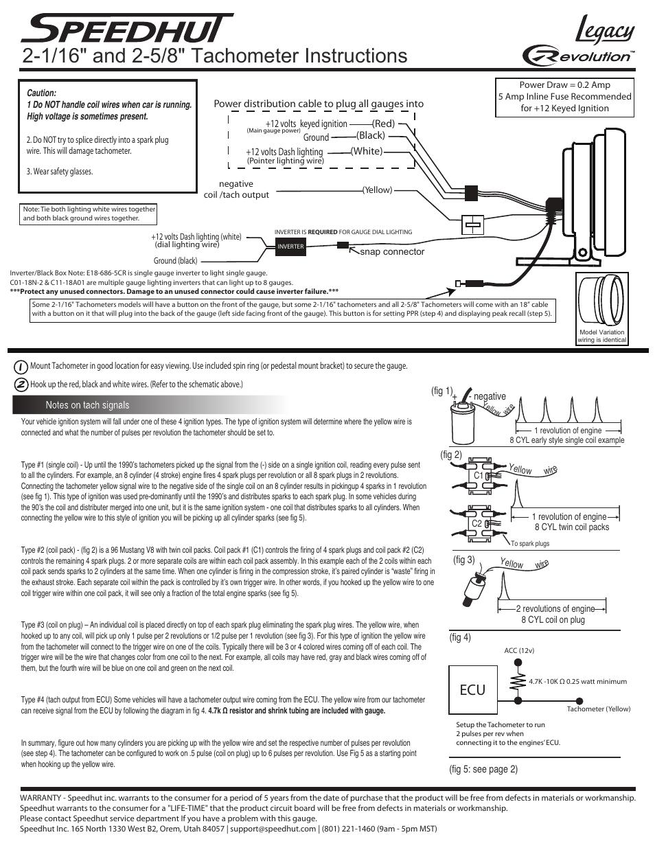 medium resolution of tachometer wiring coil