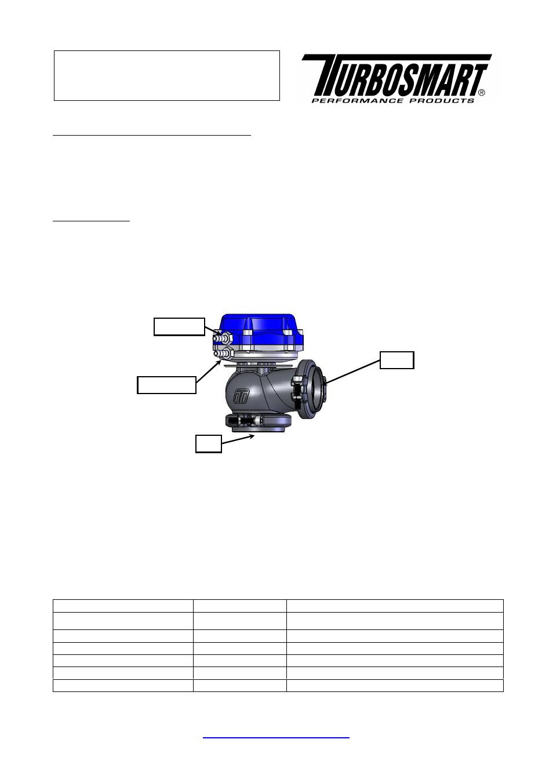 external wastegate diagram keyless entry wiring turbosmart wastegates hyper gate 45 no locking ring user manual 8 pages