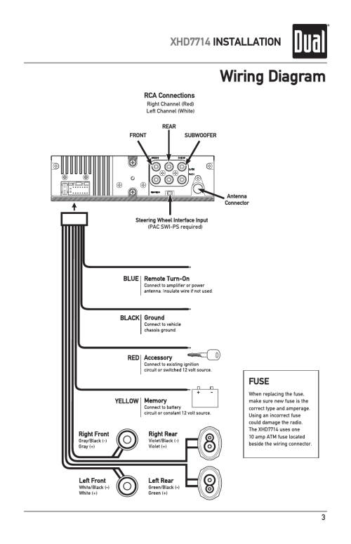 small resolution of wiring diagram xhd7714 installation fuse dual electronics xhd7714 user manual page 3