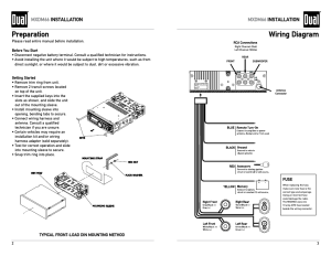 Preparation, Wiring diagram, Mxdm66 installation | Dual