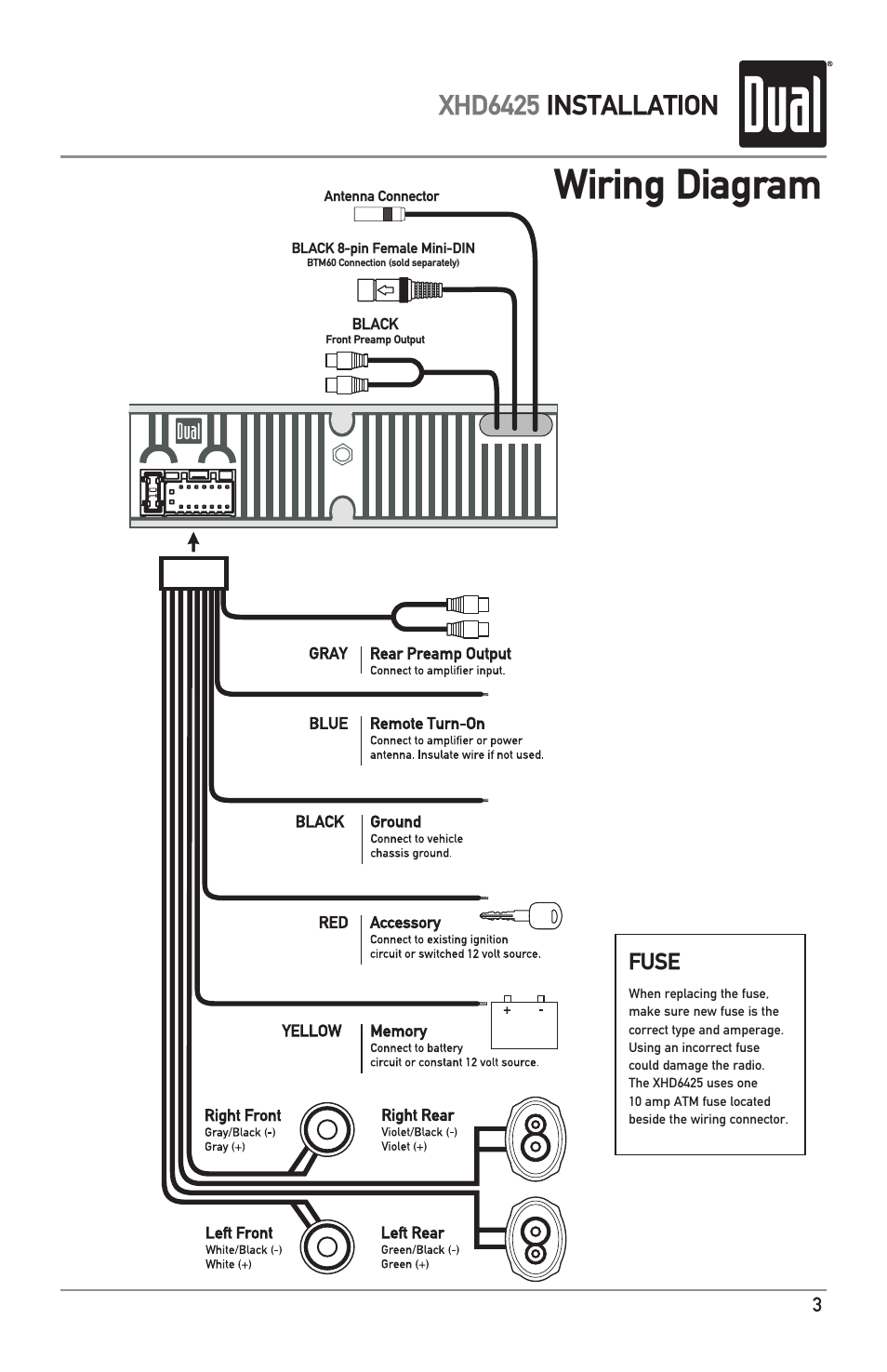 medium resolution of 5 pin din plug wiring diagram with wiring diagram xhd6425 installation dual electronics xhd6425 user manual page 3 28