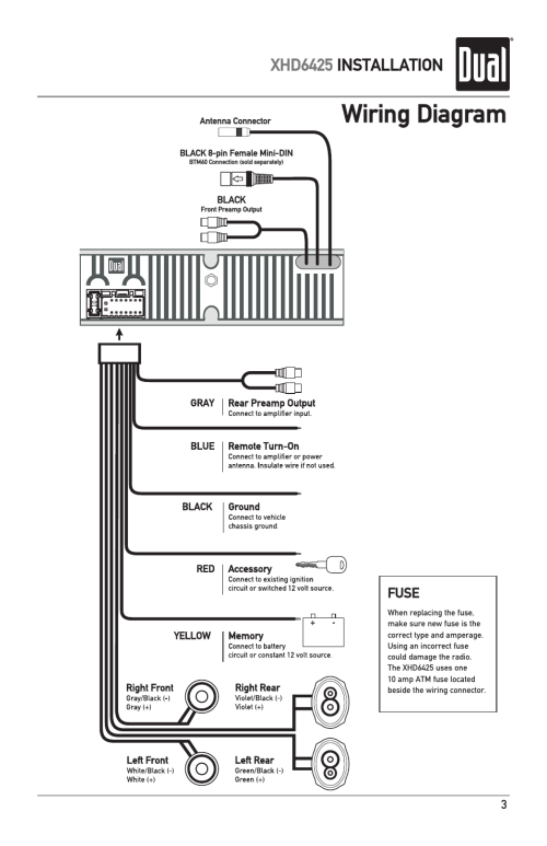 small resolution of 5 pin din plug wiring diagram with wiring diagram xhd6425 installation dual electronics xhd6425 user manual page 3 28