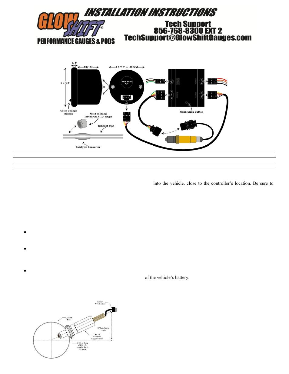 glowshift egt gauge wiring diagram 2000 honda civic si distributor install fuel toyskids co elite 10 color series wideband air ratio electric speedometer