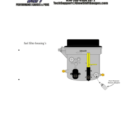 glowshift ford super duty 7 3 powerstroke fuel pressure sensor adapter user manual 1 page [ 954 x 1235 Pixel ]