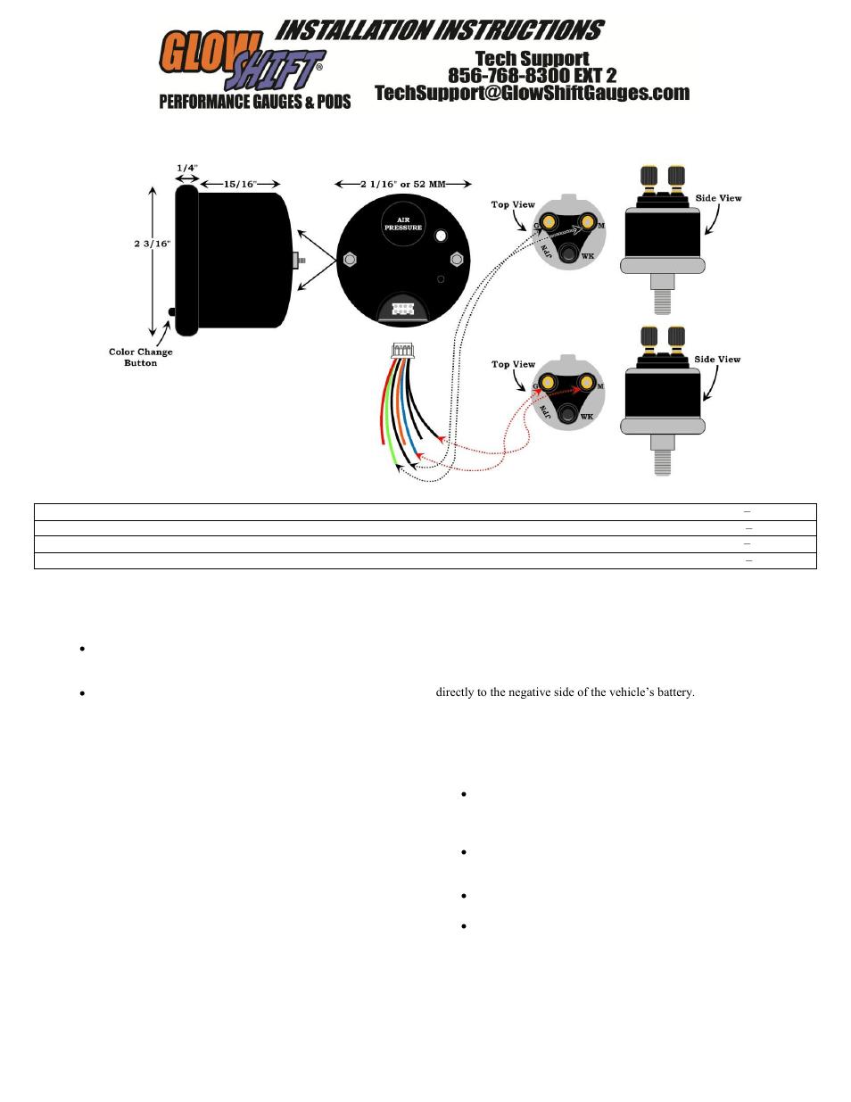 medium resolution of glowshift 7 color series 220 psi dual digital air pressure gauge temperature gauge wiring diagram air pressure gauge wiring diagram