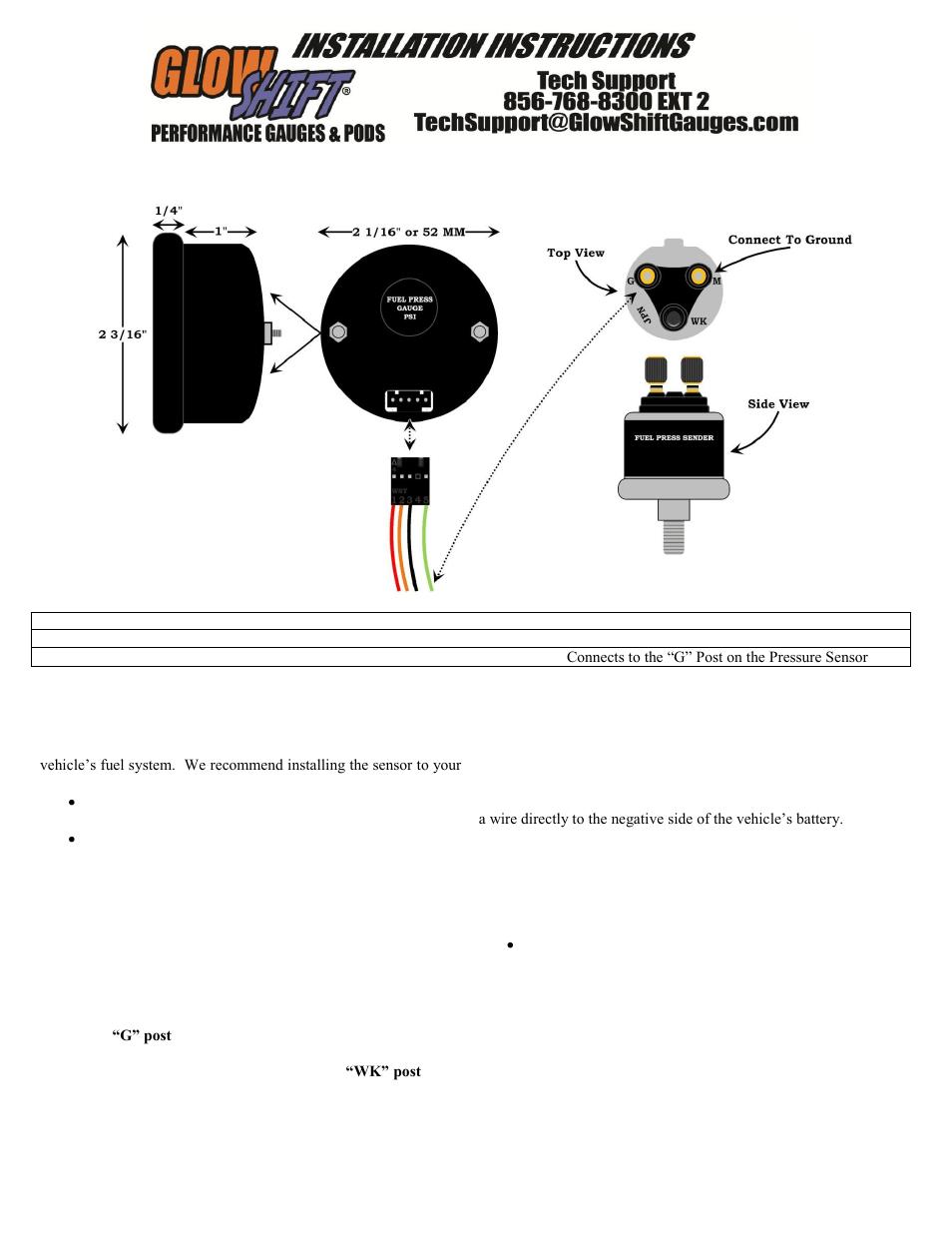 glowshift digital series fuel pressure gauge page1?resize\\\=665%2C861 glow shift boost gauge wiring diagram glow shift oil pressure  at eliteediting.co
