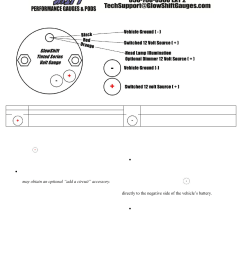 glowshift tinted series volt gauge user manual 3 pagesglowshift wire diagram 12 [ 954 x 1235 Pixel ]