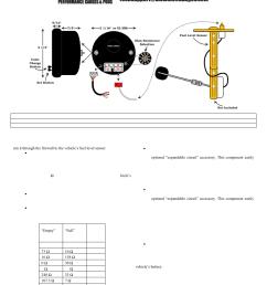 glowshift elite 10 color fuel level gauge user manual 3 pages fuel level sensor wiring [ 954 x 1235 Pixel ]
