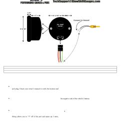 glowshift digital series celsius oil temperature gauge user manual [ 954 x 1235 Pixel ]