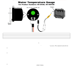 glowshift maxtow series water temperature gauge user manual 3 pages also for water temperature gauge [ 954 x 1235 Pixel ]