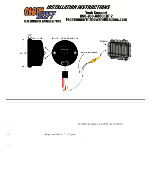 small resolution of glowshift digital series celsius water temperature gauge user manual 3 pages also for celsius water temperature gauge