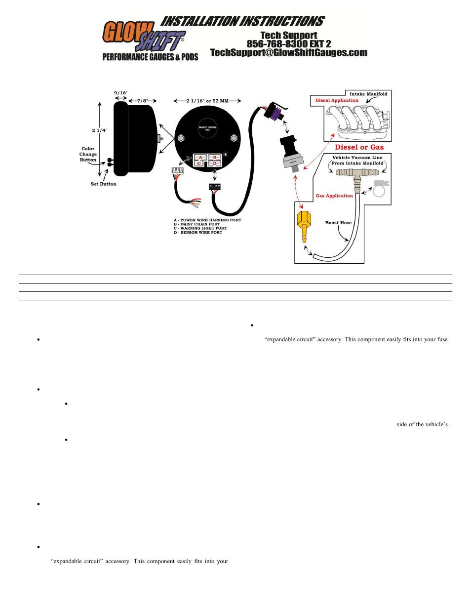 ashcroft pressure transducer wiring diagram goldstar gps glowshift boost gauge big bear 400 schematic jvc kd-r210 aftermarket ...