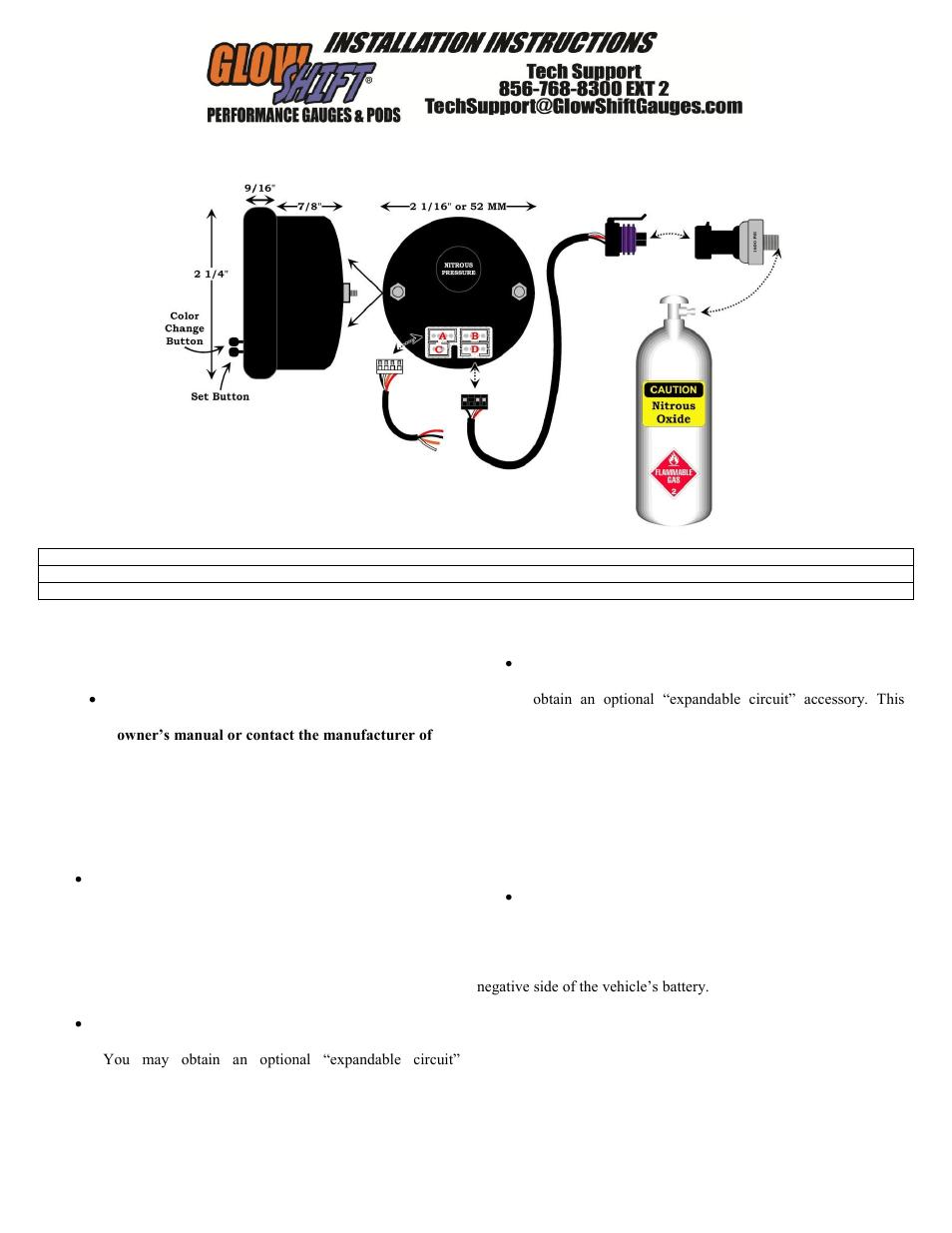 nitrous water temp gauge wiring diagram light switch 6 stromoeko de glowshift air fuel ratio 8 10 u2022 rh oxide