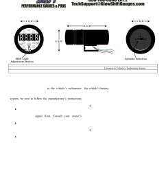 glowshift digital tachometer w shift light user manual 2 pages also for digital tachometer [ 954 x 1235 Pixel ]