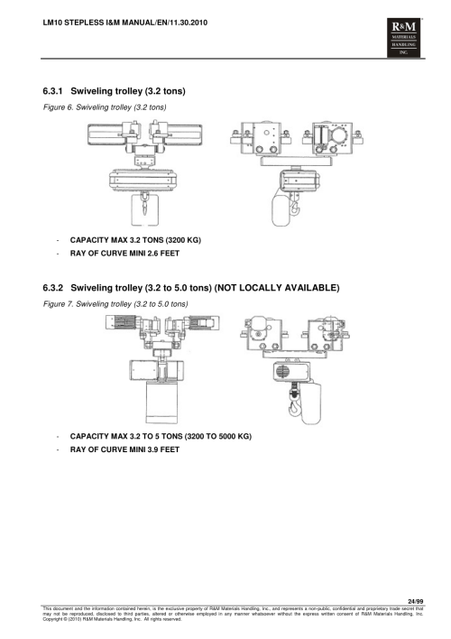 small resolution of 1 swiveling trolley 3 2 tons r m materials handling electric chain hoists loadmate chain hoist lm 10 stepless user manual page 24 99