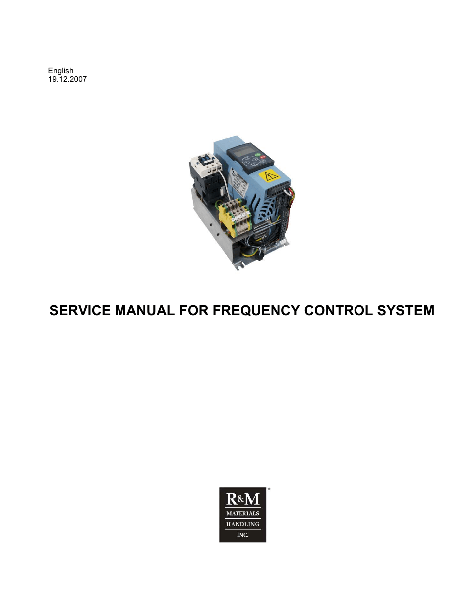 R&M Materials Handling VARIABLE SPEED CONTROLS