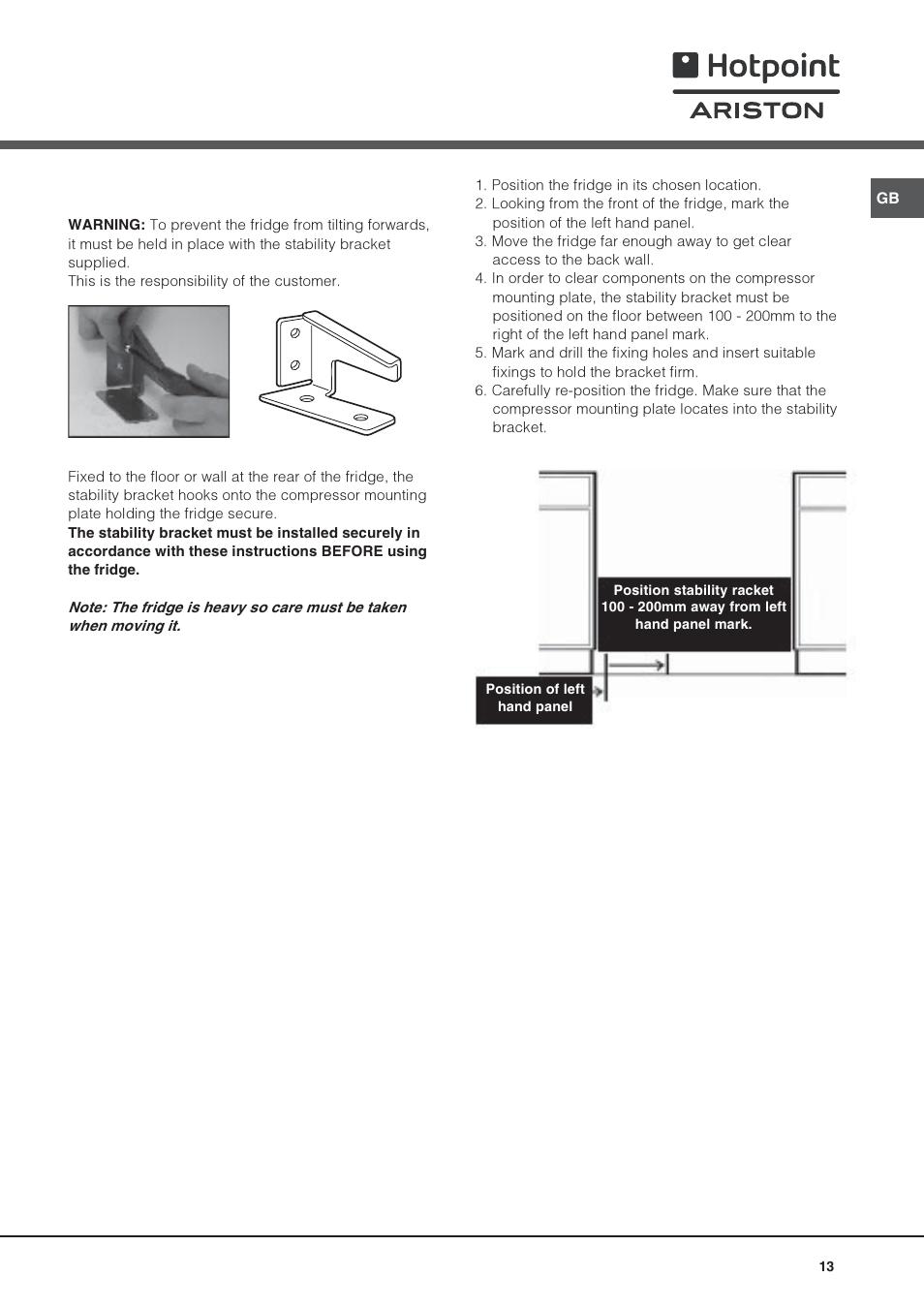 Hotpoint Ariston Monoporte SDS 1721 V-HA User Manual