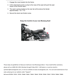 mustang motorcycle seats one piece studded lowdown touring seat harley davidson road king flht fltr flhx user manual page 2 2 [ 954 x 1235 Pixel ]