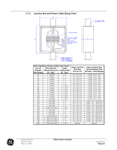Junction box and power cable sizing chart ge industrial solutions zenith series mdu user manual page also rh manualsdir