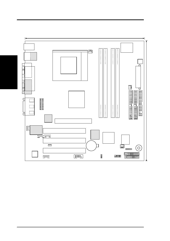 Hardware setup, 1 p4t-m motherboard layout, Socket 423