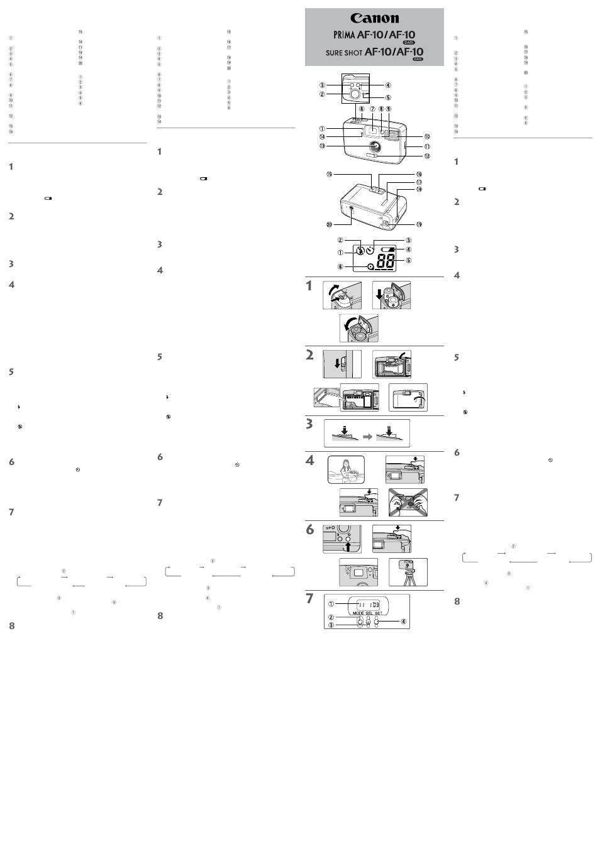 Istruzioni (italiano), Instrucciones (español), Instruções