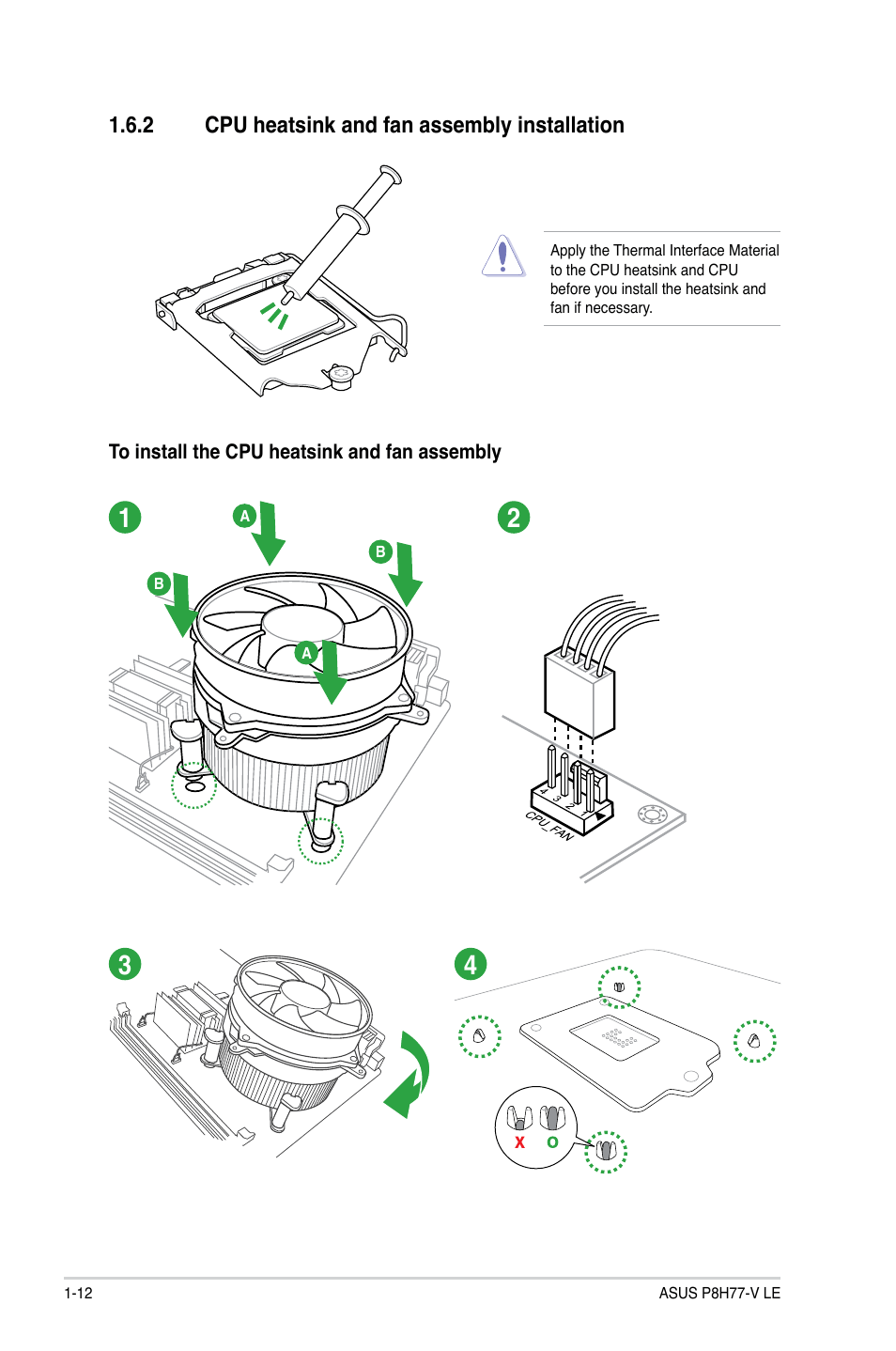 2 cpu heatsink and fan assembly installation, Cpu heatsink