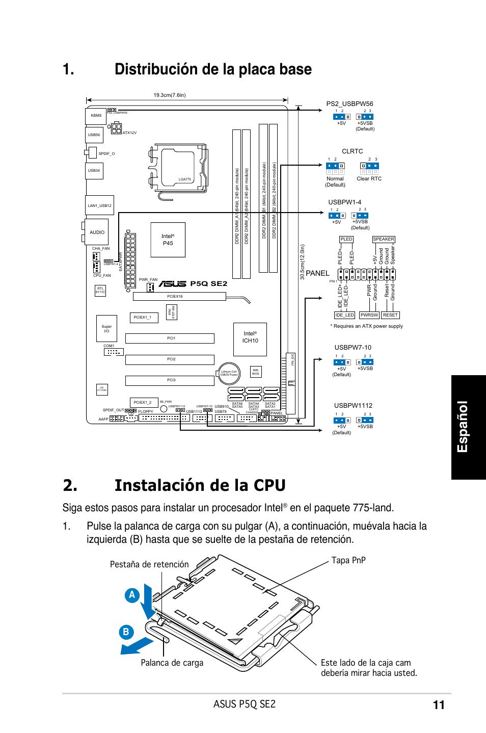 Español, Siga estos pasos para instalar un procesador