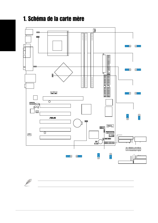 Schéma de la carte mère, Français, Carte mère asus a7n8x