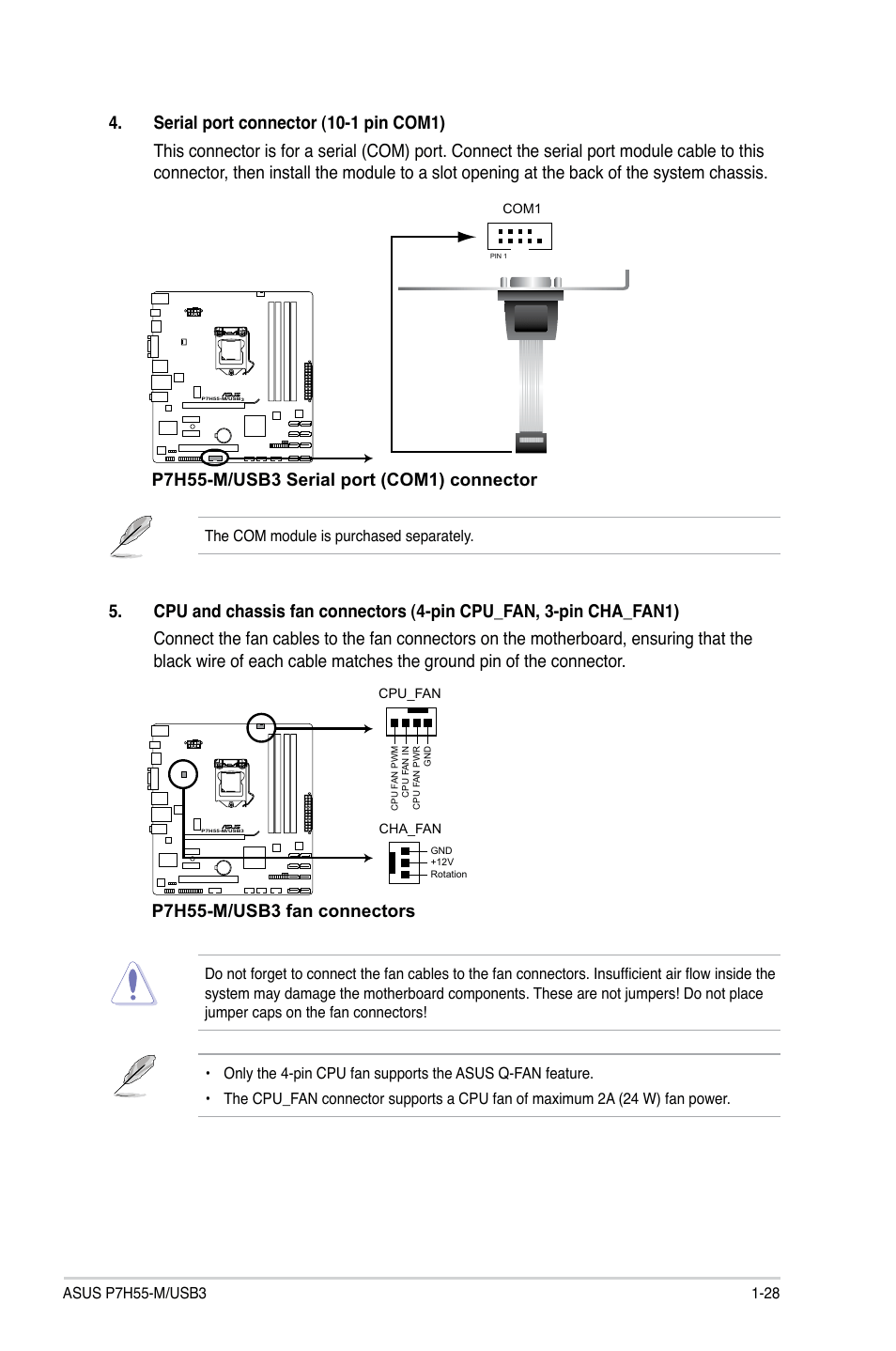 medium resolution of p7h55 m usb3 fan connectors asus p7h55 m usb3 user manual page 41 78
