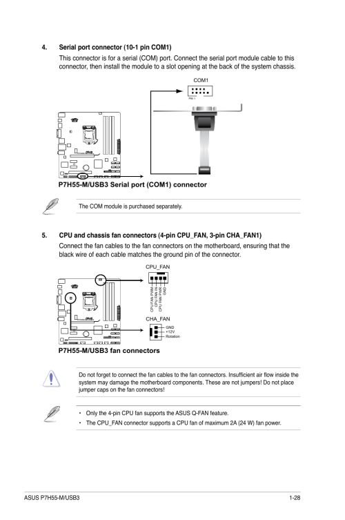 small resolution of p7h55 m usb3 fan connectors asus p7h55 m usb3 user manual page 41 78