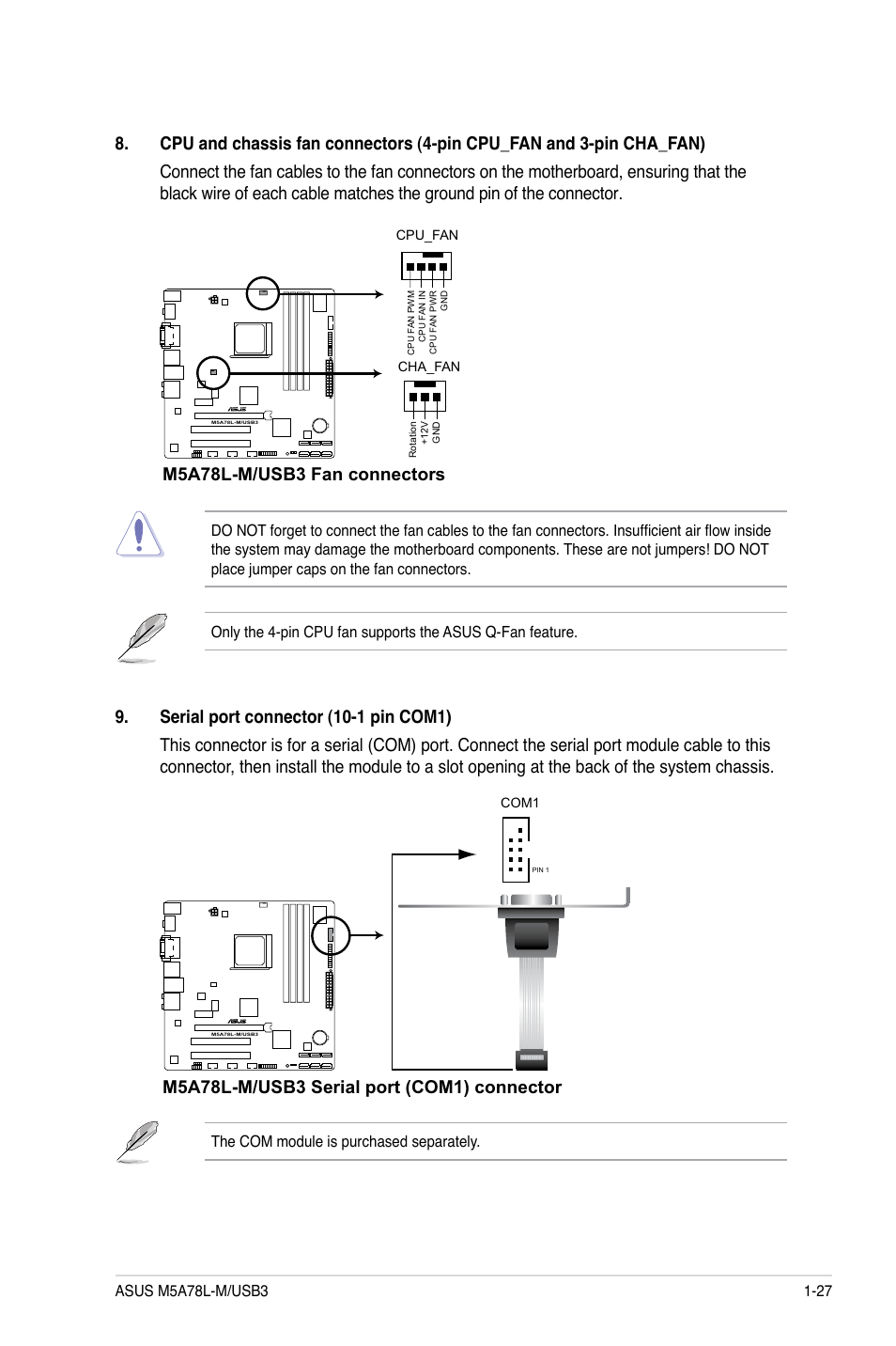 hight resolution of m5a78l m usb3 fan connectors asus m5a78l m usb3 user manual page 37 64