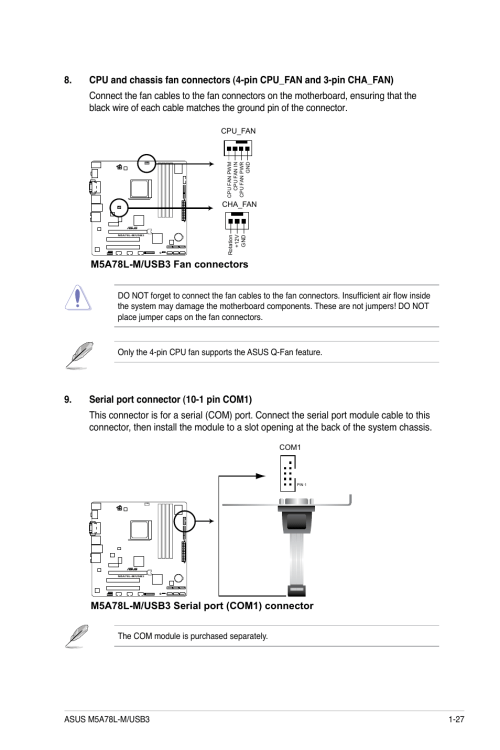 small resolution of m5a78l m usb3 fan connectors asus m5a78l m usb3 user manual page 37 64