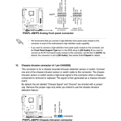 Audio Connector Wiring Diagram Rockford Fosgate P5kpl-am/ps Analog Front Panel Connector, Chassis Intrusion | Asus P5kpl ...
