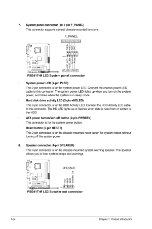 F_panel, P5g41tm lx3 system panel connector, P5g41tm lx3