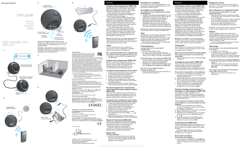Sony Ericsson Kabelloser Stereo-Lautsprecher MBS-400(MBS