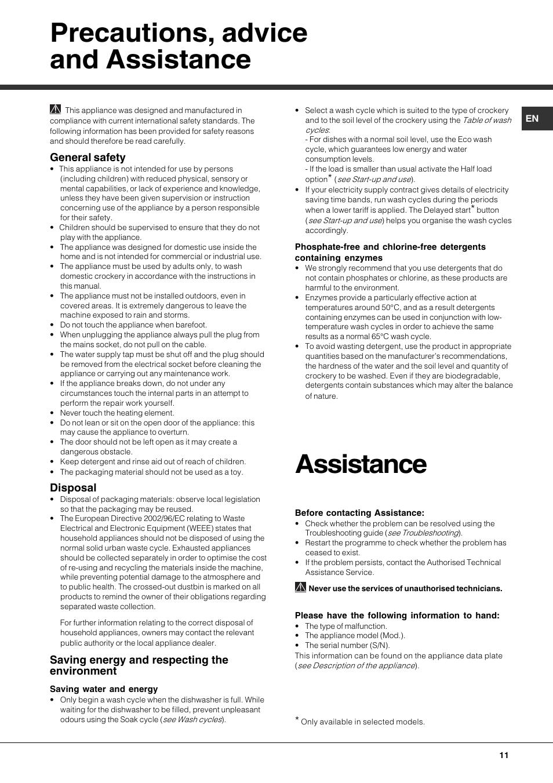 Hotpoint Instruction Manuals