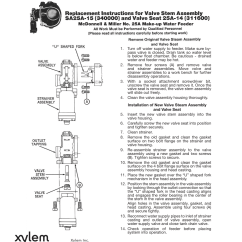 Mcdonnell Miller F150 Wiring Diagram 2006 Xylem I Sa25a 15 B No 25a Make Up Water Feeder User Manual 1 Page