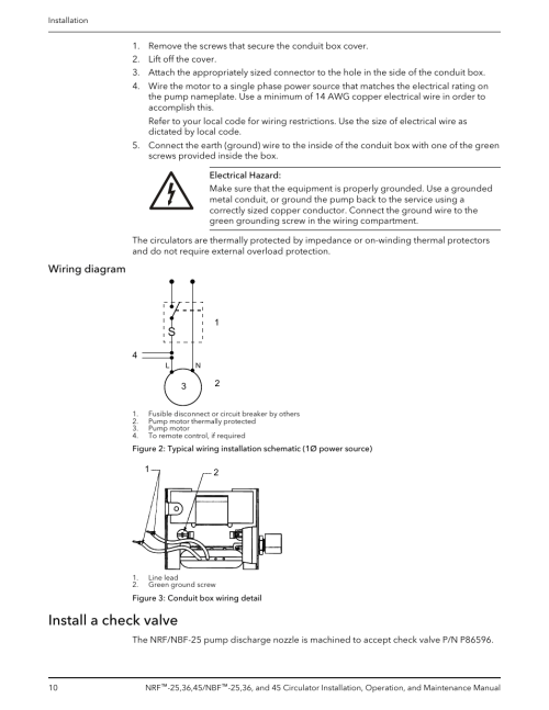 small resolution of wiring diagram install a check valve bell gossett p86203f nbf 45 circulator user manual page 12 20