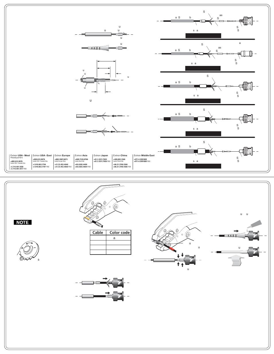 Extron Electronics Universal Cable BNC Crimp User Manual