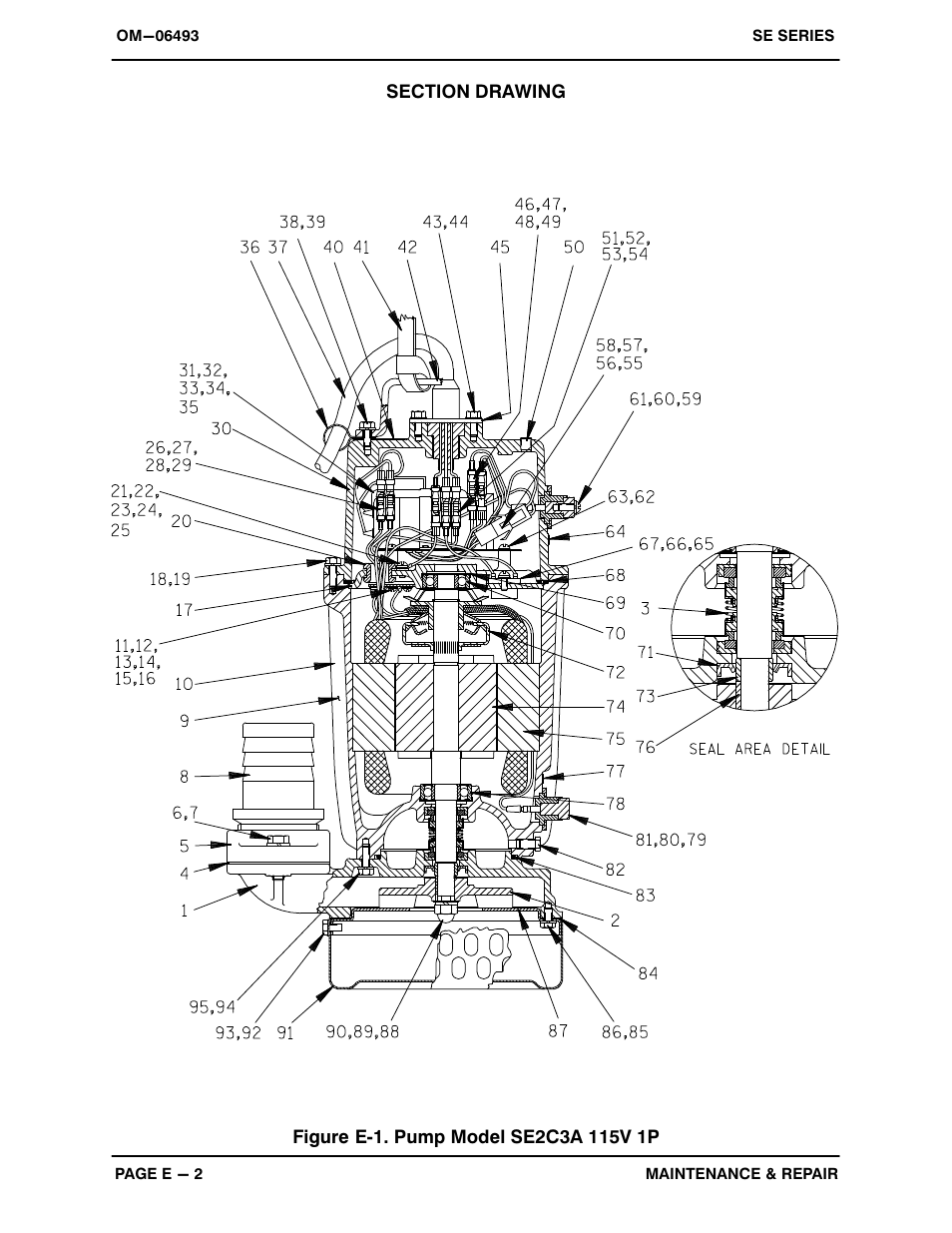 Gorman-Rupp Pumps SE2C3A 115V 1P 1483930 and up User