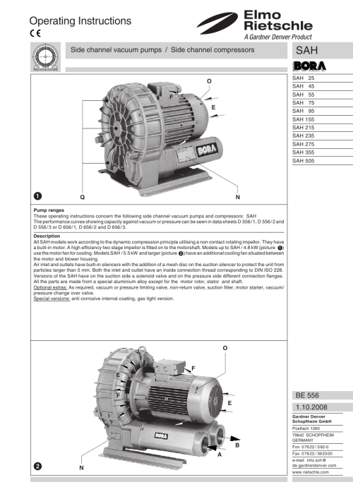 small resolution of english operating instructions elmo rietschle g sah user manual page 5 48