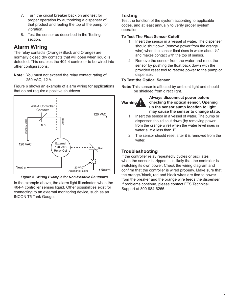 medium resolution of alarm wiring testing troubleshooting franklin fueling systems dc406 dispensing cutoff system user manual page 5 6