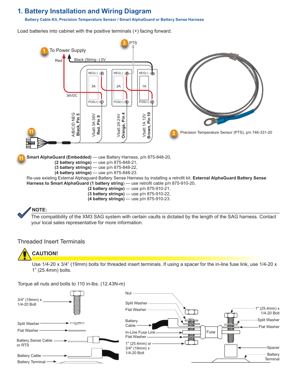 hight resolution of battery installation and wiring diagram threaded insert terminalsbattery installation and wiring diagram threaded insert