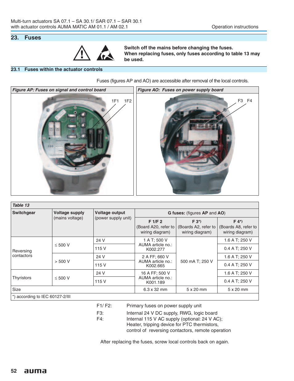 auma electric multi turn actuators sa 071 161_sar 071 161 matic am 011 021 page52?resize=665%2C861 wiring auma diagram sa07 2 2005 chevrolet hd diesel engine bettis actuator wiring diagrams at sewacar.co