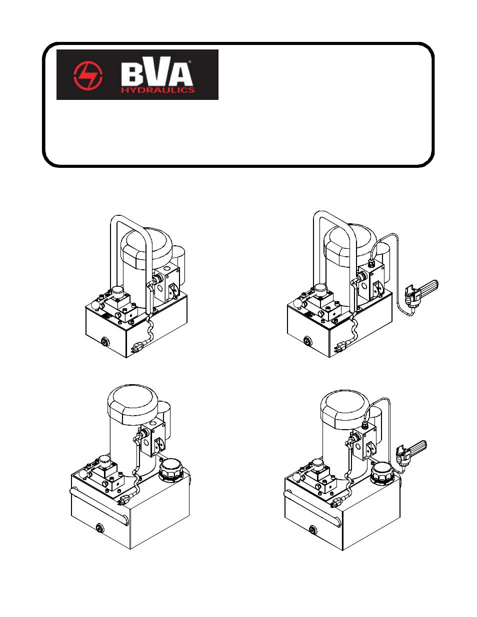 BVA Hydraulics PEW0501, PEW1002, PEW1503, PEW3005 User