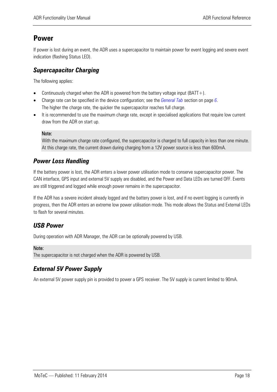 medium resolution of power supercapacitor charging power loss handling motec adr user manual page 19 25