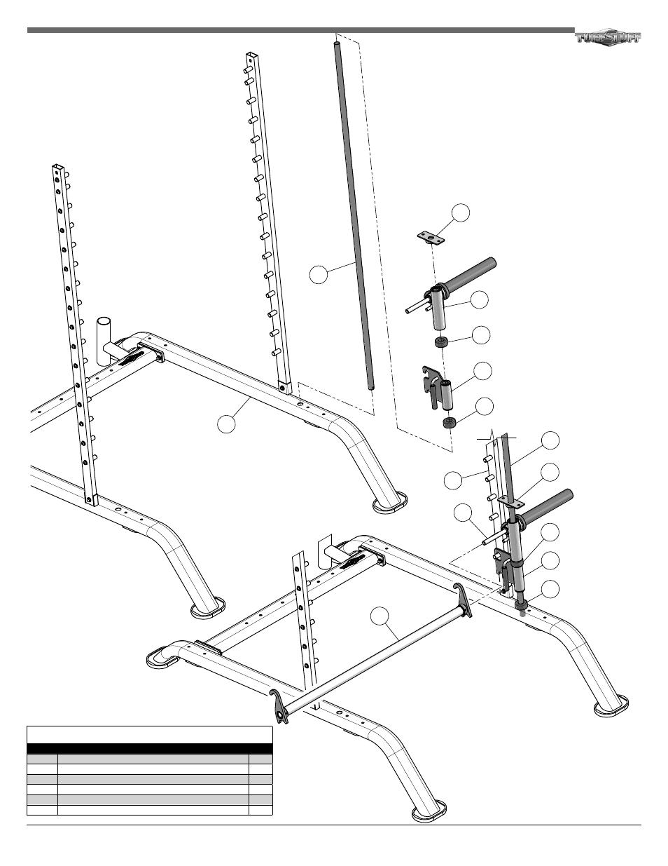 Tuff Stuff RSM-625WS Smith-Half Cage Ensemble User Manual
