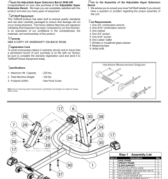 tuff stuff rhe 340 adjustable hyper extension bench user manual page 2 8 [ 954 x 1235 Pixel ]